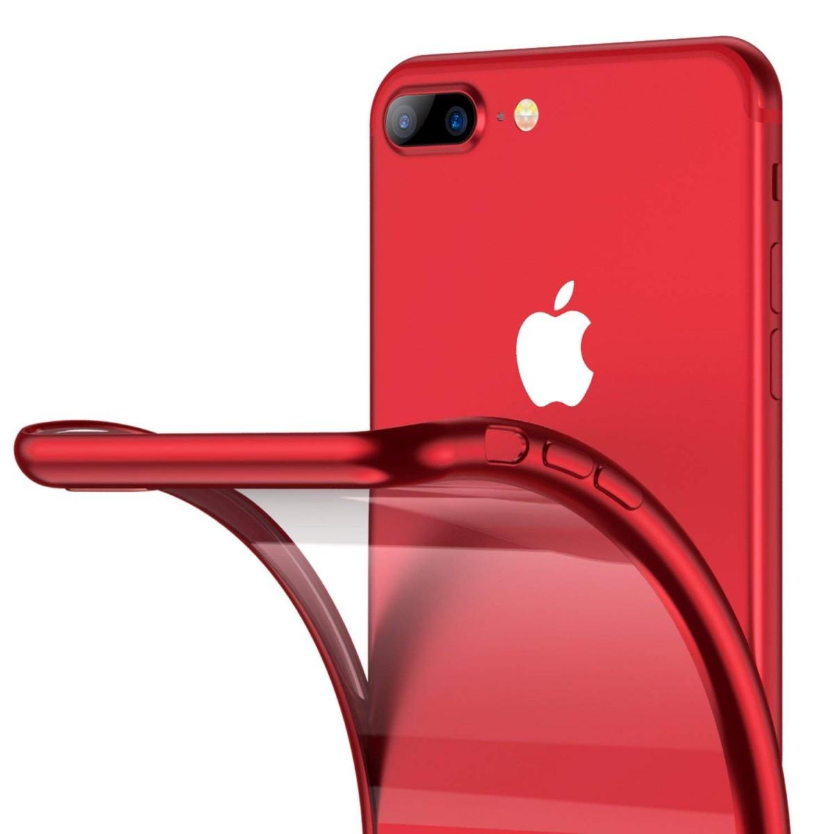 Elegantní obal / kryt RING pro iPhone 8 Plus / 7 Plus - Červený (red)