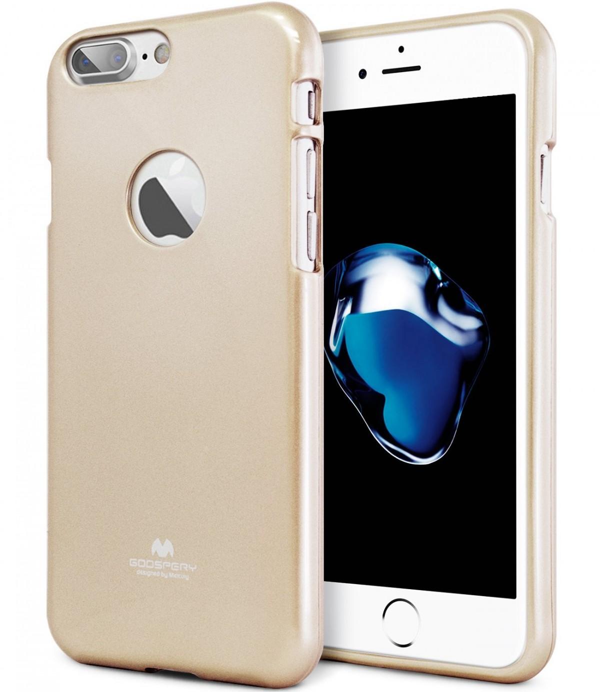 Pouzdro Goospery Mercury Jelly Case Apple iPhone 8 Plus / 7 Plus - Zlaté