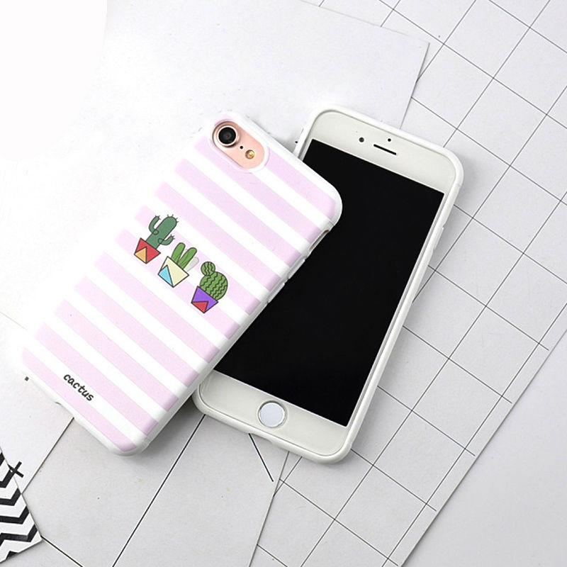 Obaly / kryty KAKTUS pro mobily Apple iPhone - iPhone 7 (pruhovaný)