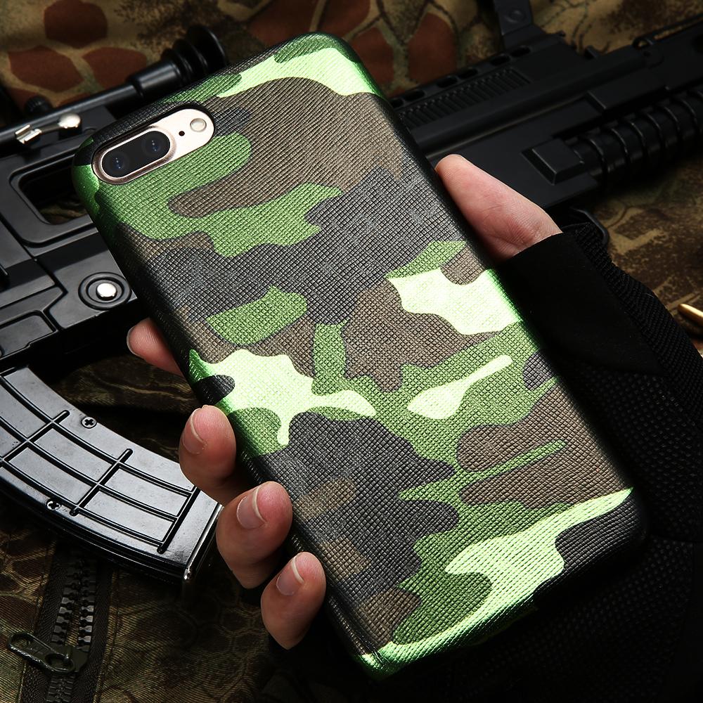 Pouzdro iMore Army Camouflage na iPhone 8 Plus / 7 Plus - Zelené