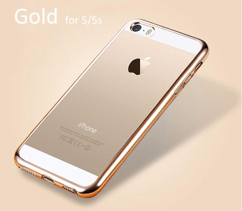 Elegantní obal / kryt RING pro iPhone SE / 5s / 5 - Zlatý (gold)