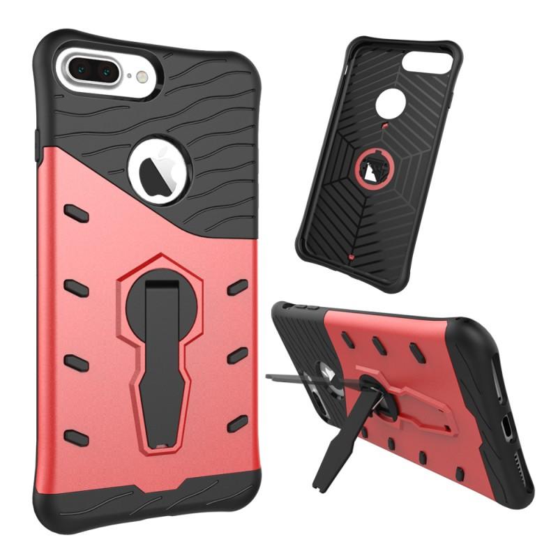 Velmi odolný kryt SNIPER se stojánkem pro Apple iPhone 7 Plus - Červený / Red