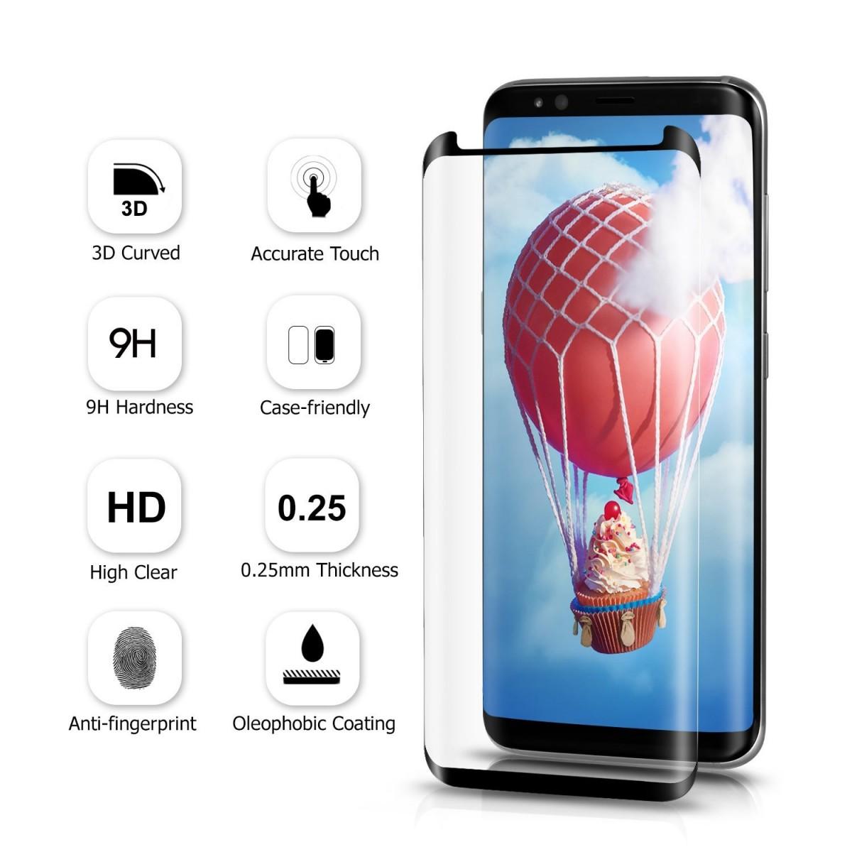 3D Ochranné sklo MagicGlass s celoplošným lepením na Galaxy S8 Plus (S8+)