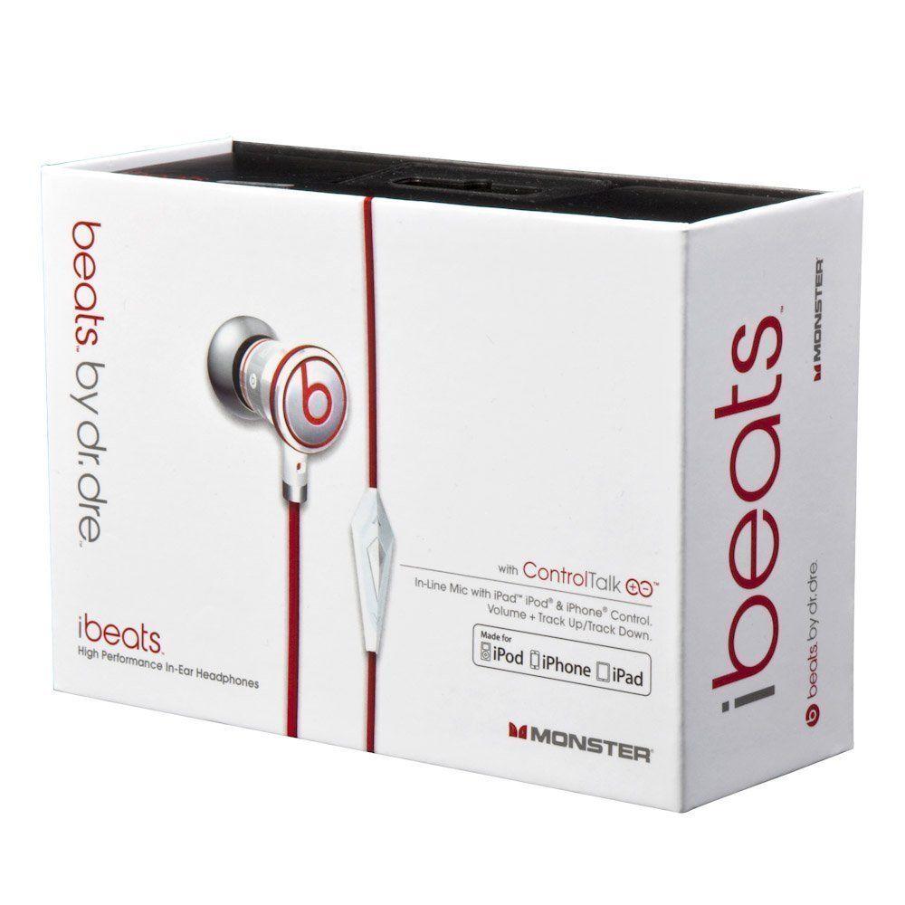 Sluchátka Monster Beats by Dr. Dre iBeats - Bílá, v krabičce
