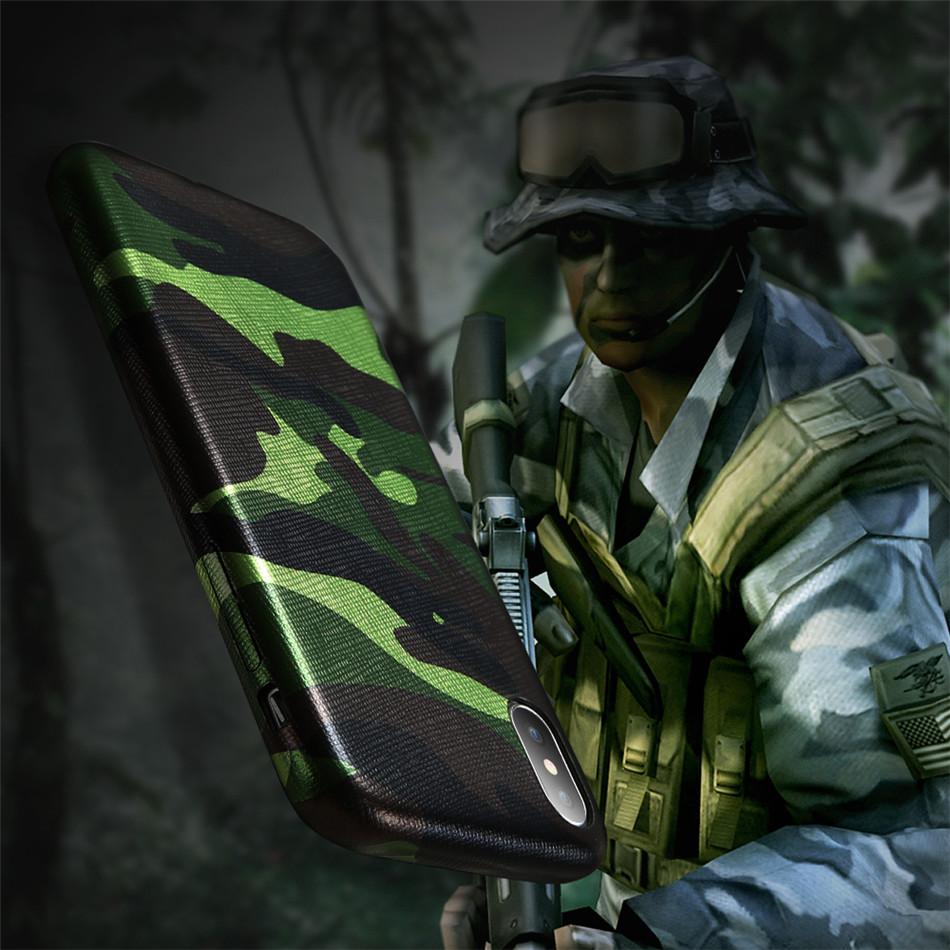Pouzdro iMore Army Camouflage na iPhone X - zelené