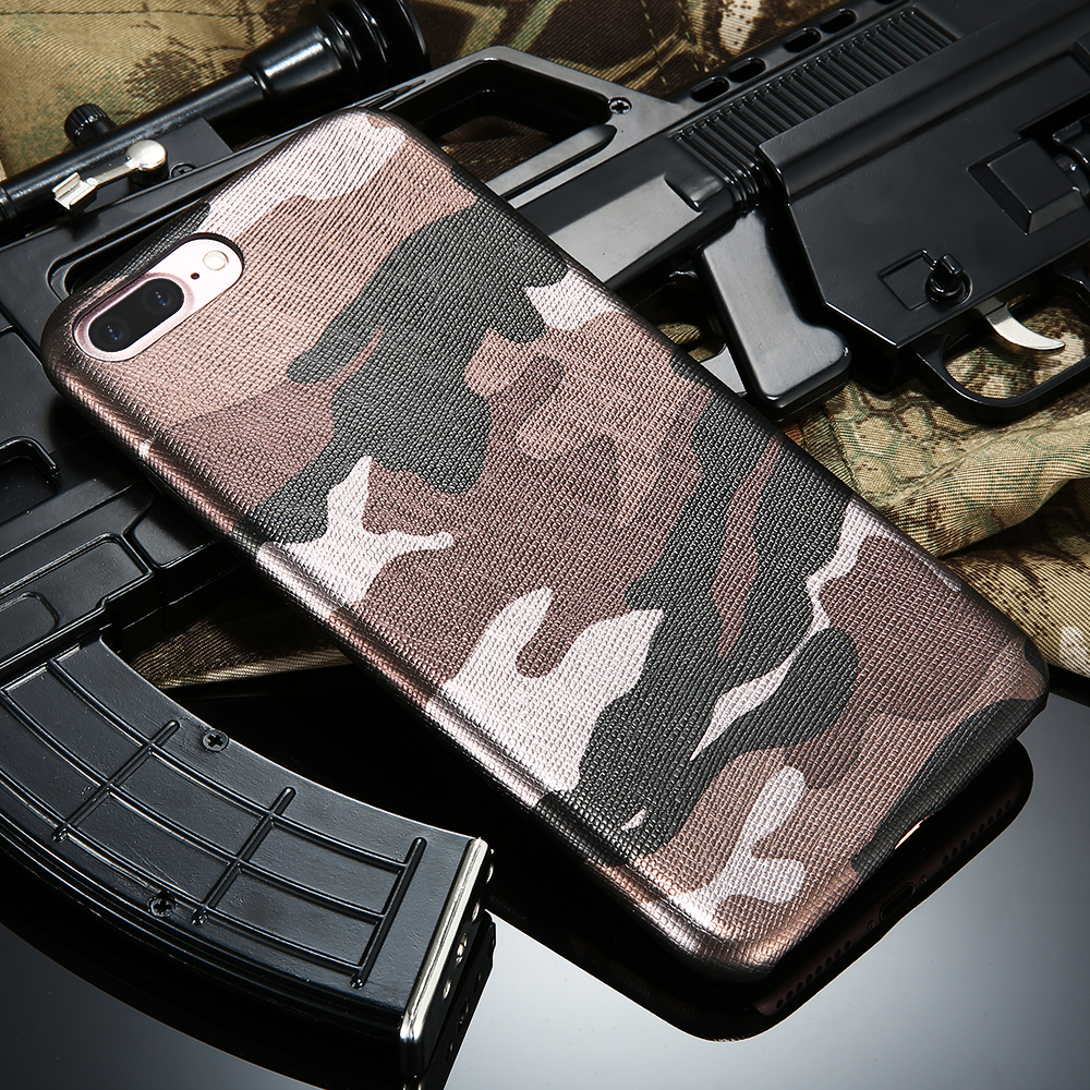 Kryt Army Camouflage pro iPhone 7 Plus - Hnědý