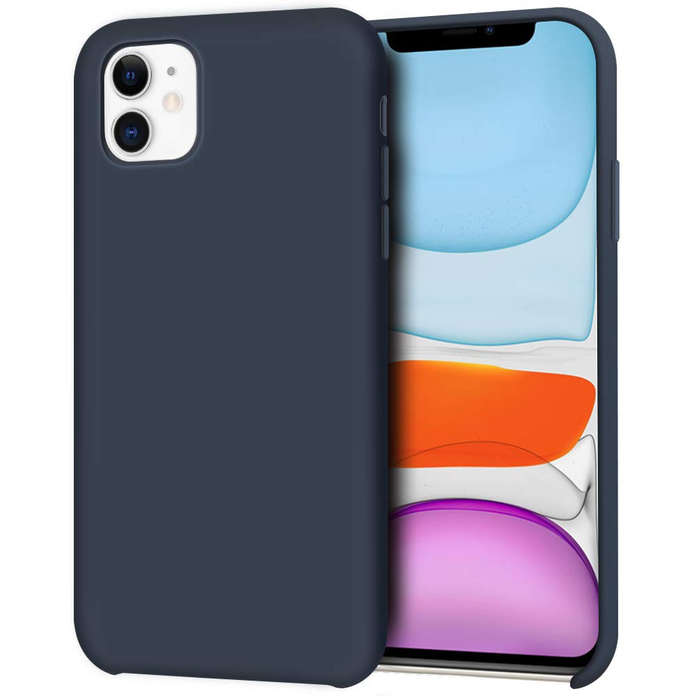 Pouzdro iMore Silicone Case iPhone 11 - Půlnočně modrý