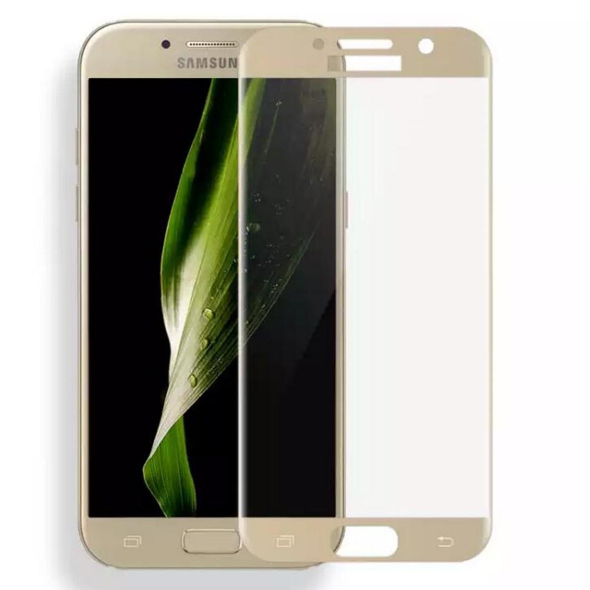 3D tvrzené sklo 9H na celý displej - Galaxy A3 (2017 - Zlaté (gold)