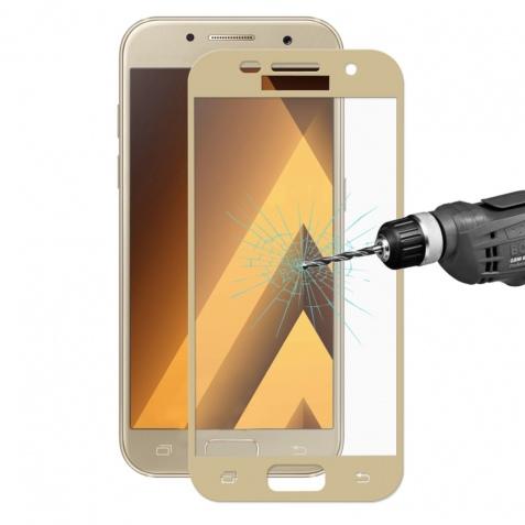 3D ochranné sklo Carbon Fiber na displej Samsung Galaxy J7 (2017) - Zlaté