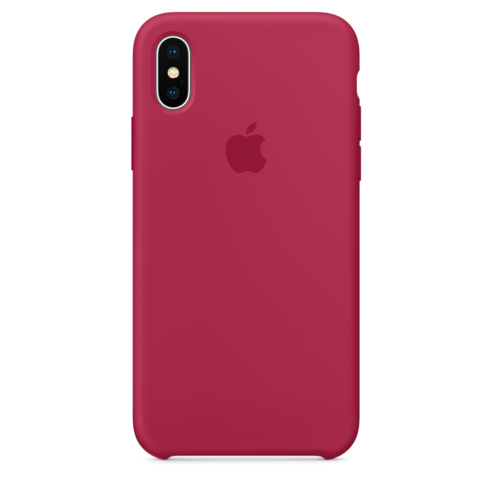 Pouzdro APPLE iPhone X Silicone Case - Rose červené