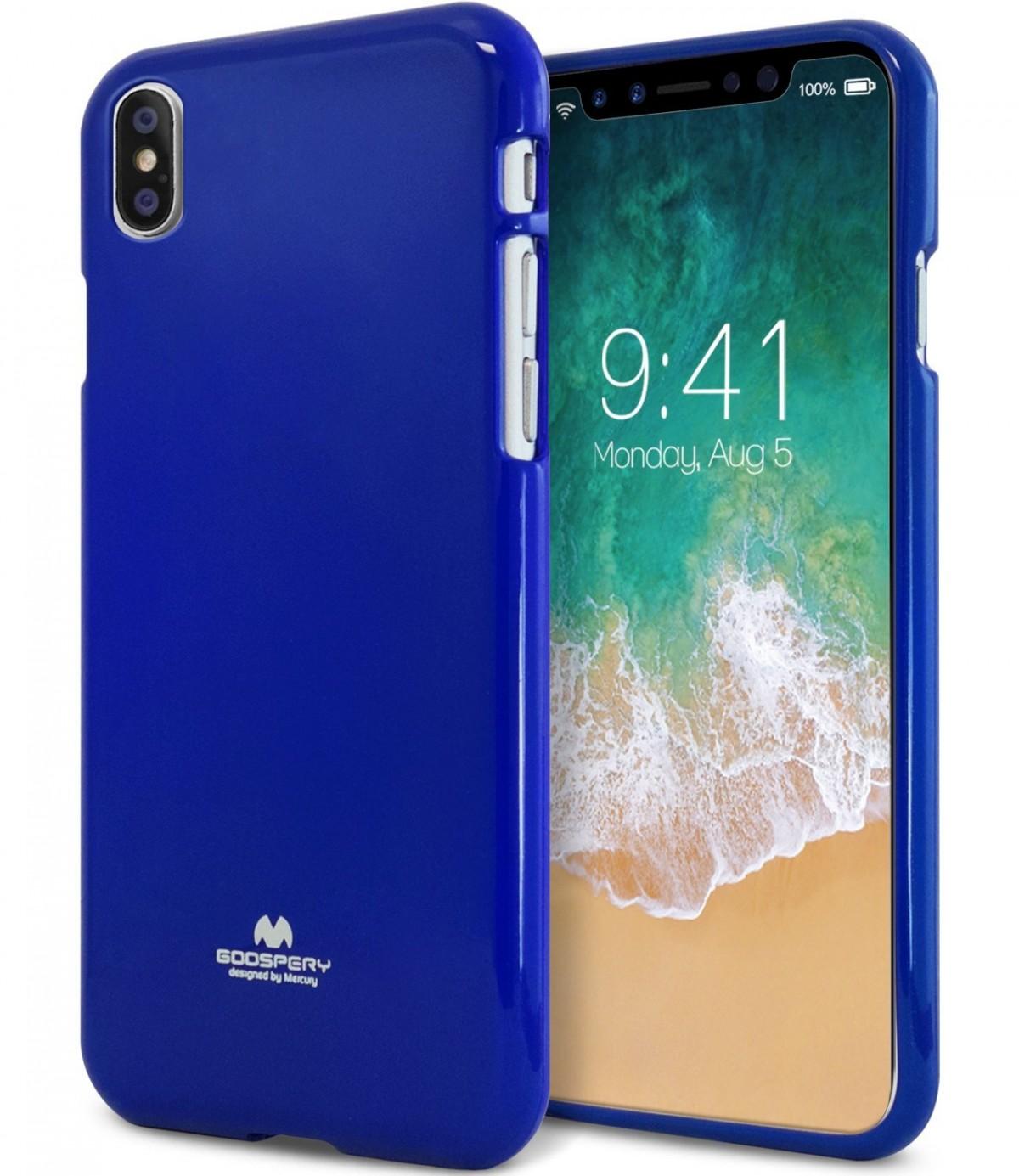 Pouzdro Goospery Mercury Jelly na Apple iPhone Xs/X - Modrý