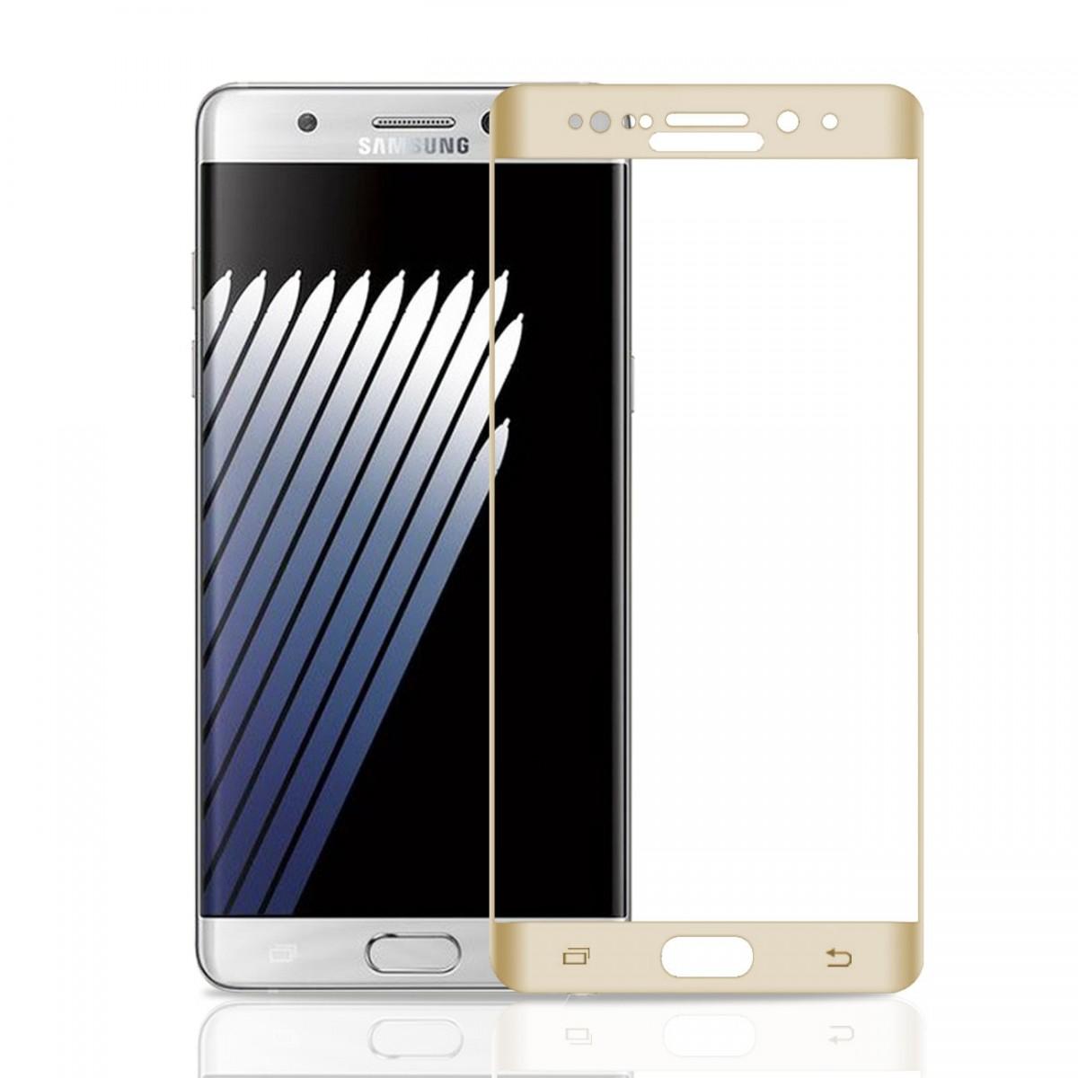 3D tvrzené sklo 9H pro Samsung Galaxy Note 7 - Zlaté (gold)
