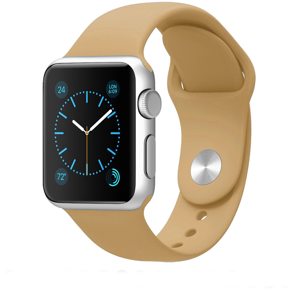 Řemínek SmoothBand pro Apple Watch Series 3/2/1 42mm - Ořechově hnědý