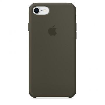 Originální silikonový kryt Apple na iPhone 8 / 7 - Tmavě olivový