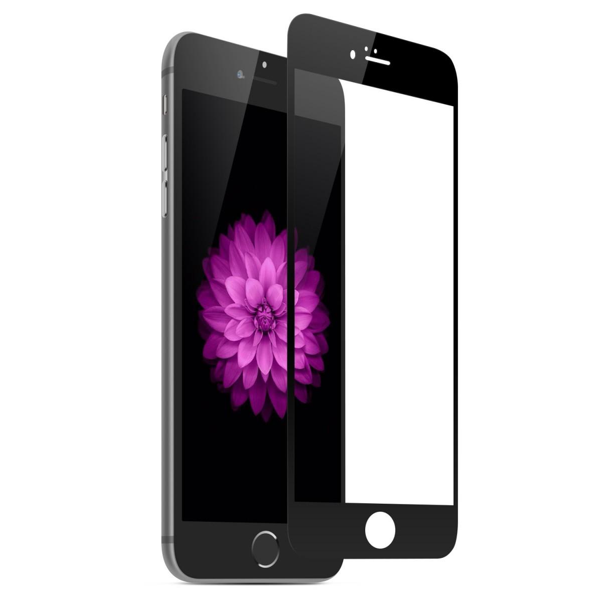 Tvrzené sklo FullCover na iPhone 6s / 6 (černé)