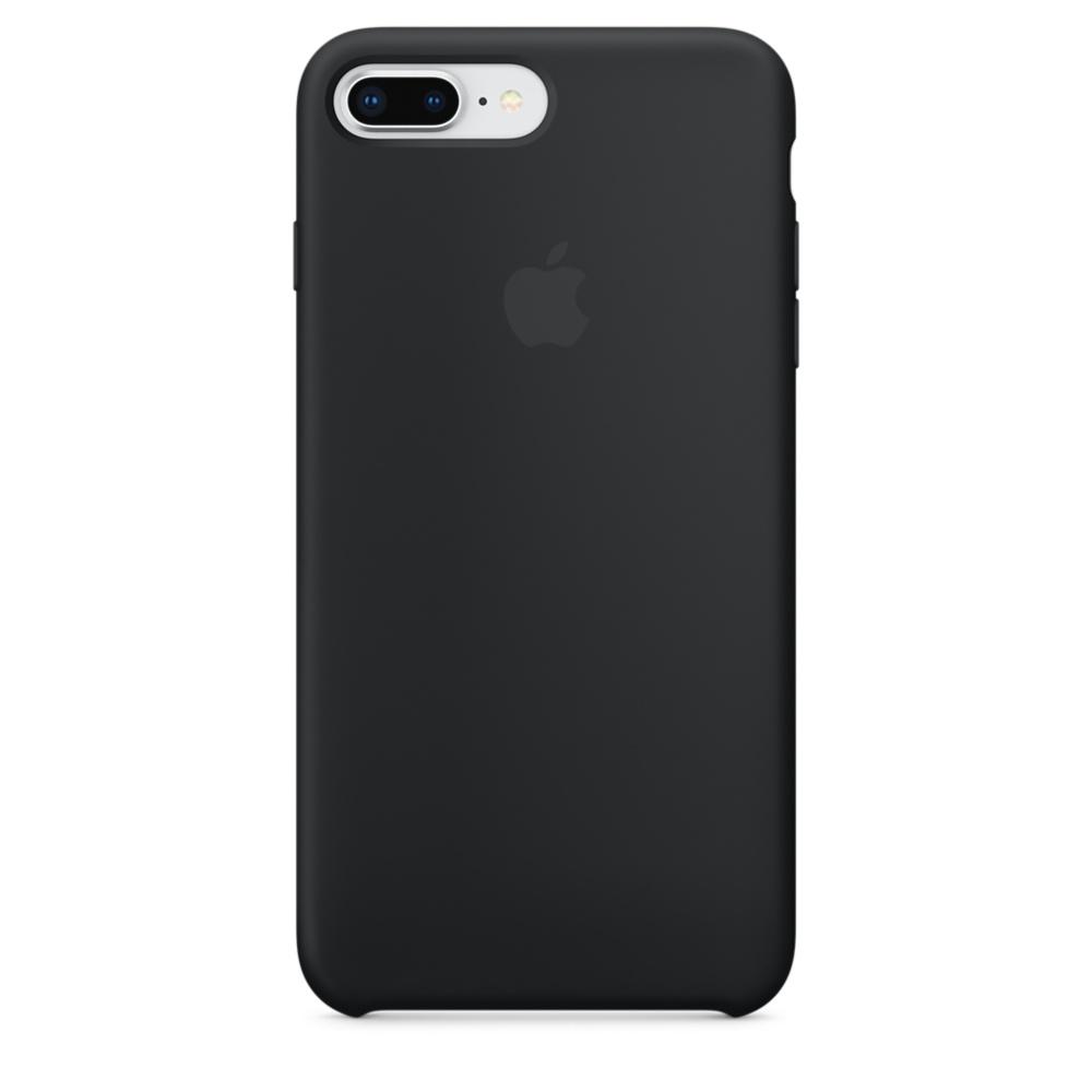 Originální silikonový kryt Apple iPhone 8 Plus / 7 Plus - Černý