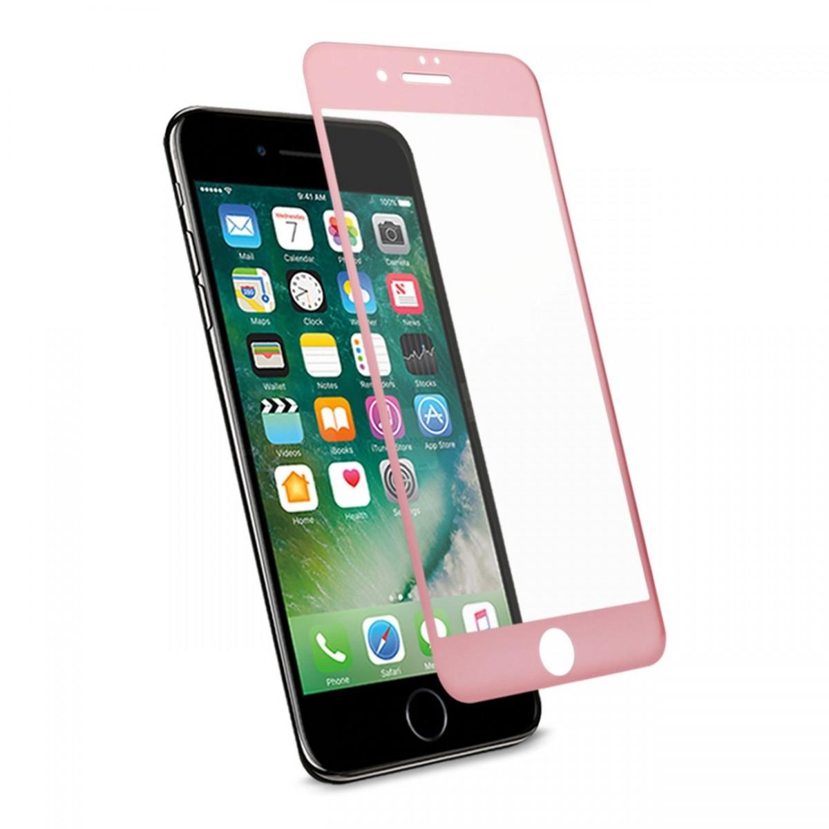 3D Tvrzené sklo MagicGLASS Apple iPhone 8 Plus / 7 Plus - Růžově zlaté (rose gold)