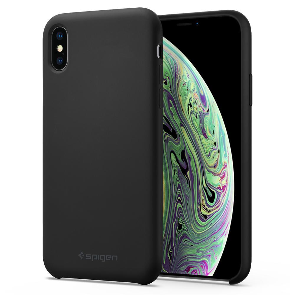 Pouzdro Spigen Silicone Fit kryt Apple iPhone XS/X černé