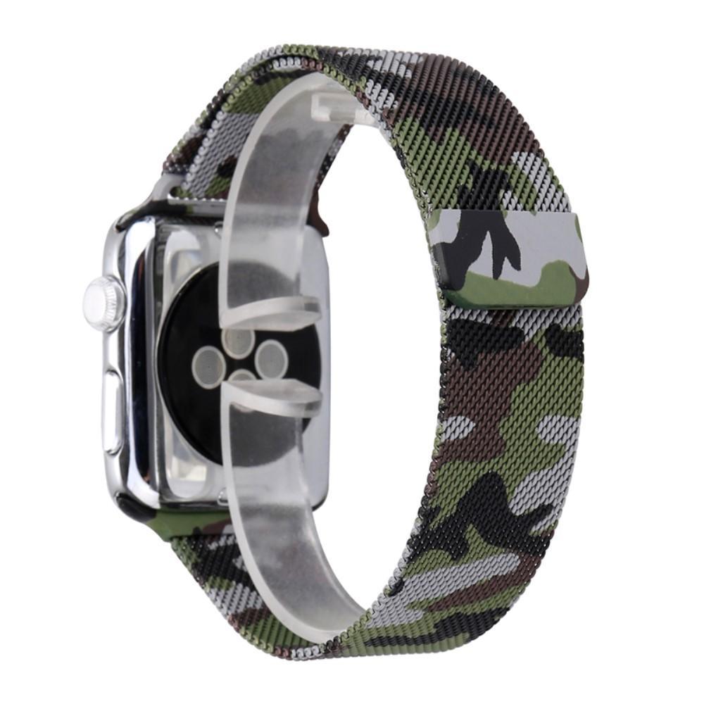 Řemínek MILANESE LOOP pro Apple Watch Series 3/2/1 38mm - Zelená kamufláž