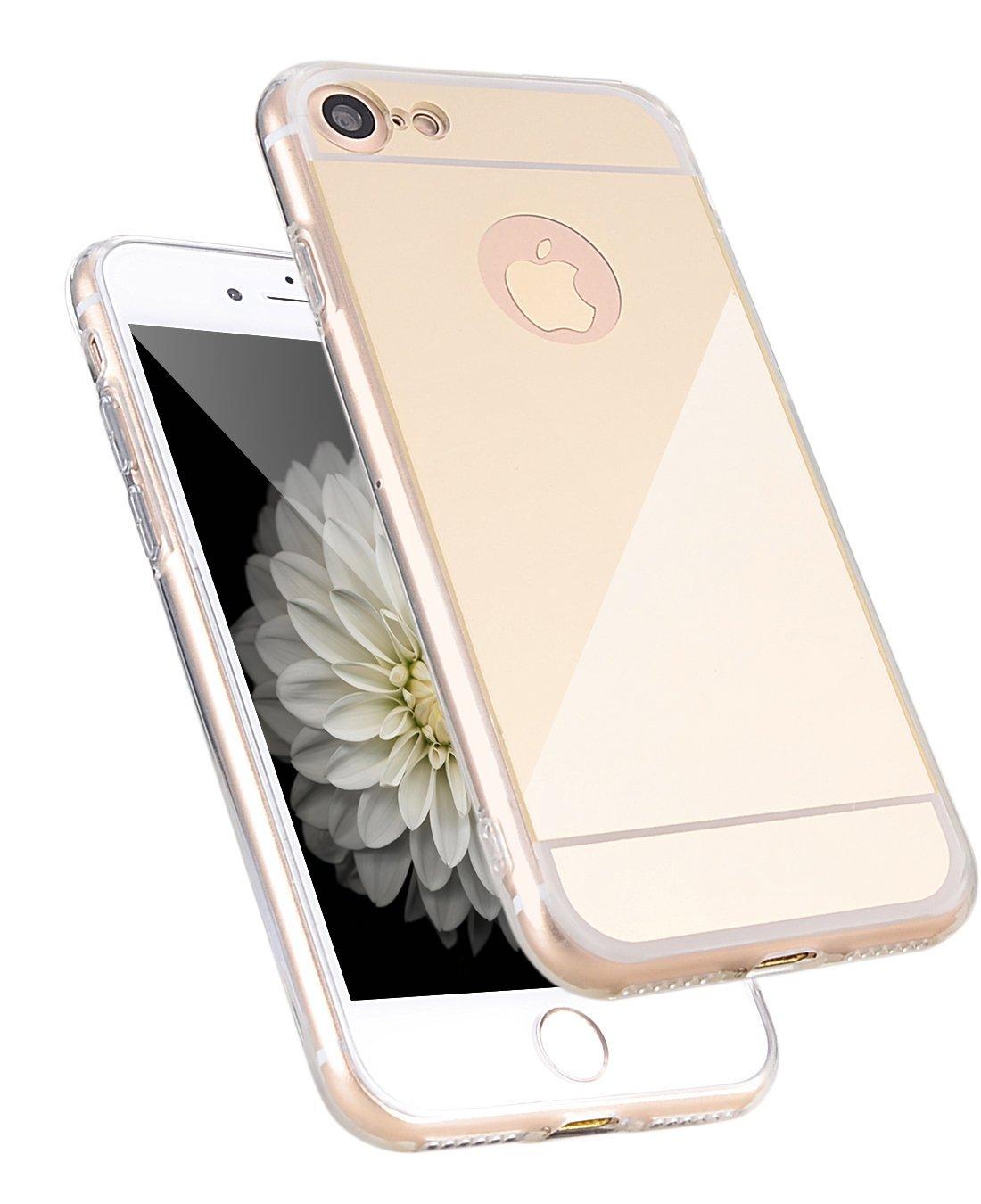 Zrcadlový kryt My Mirror pro iPhone 7 - Zlatý (gold)