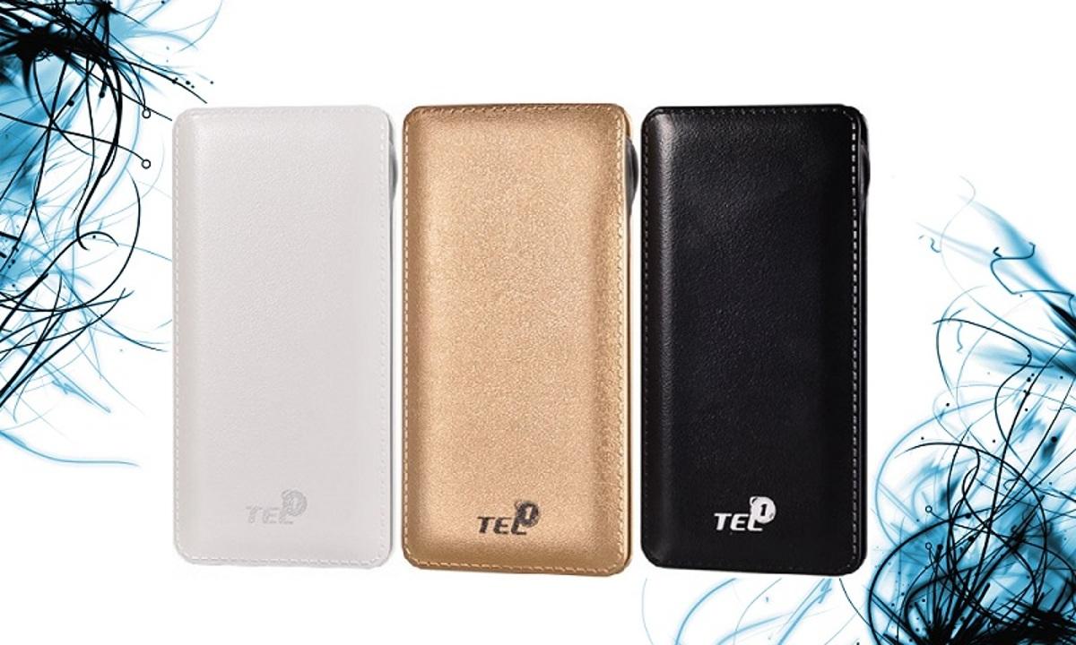 Externí baterie / Power Banka TEL1 Slim 12 000mAh, 2x USB, LED