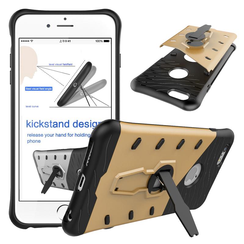 Velmi odolný kryt SNIPER se stojánkem pro Apple iPhone SE / 5s / 5 - Zlatý