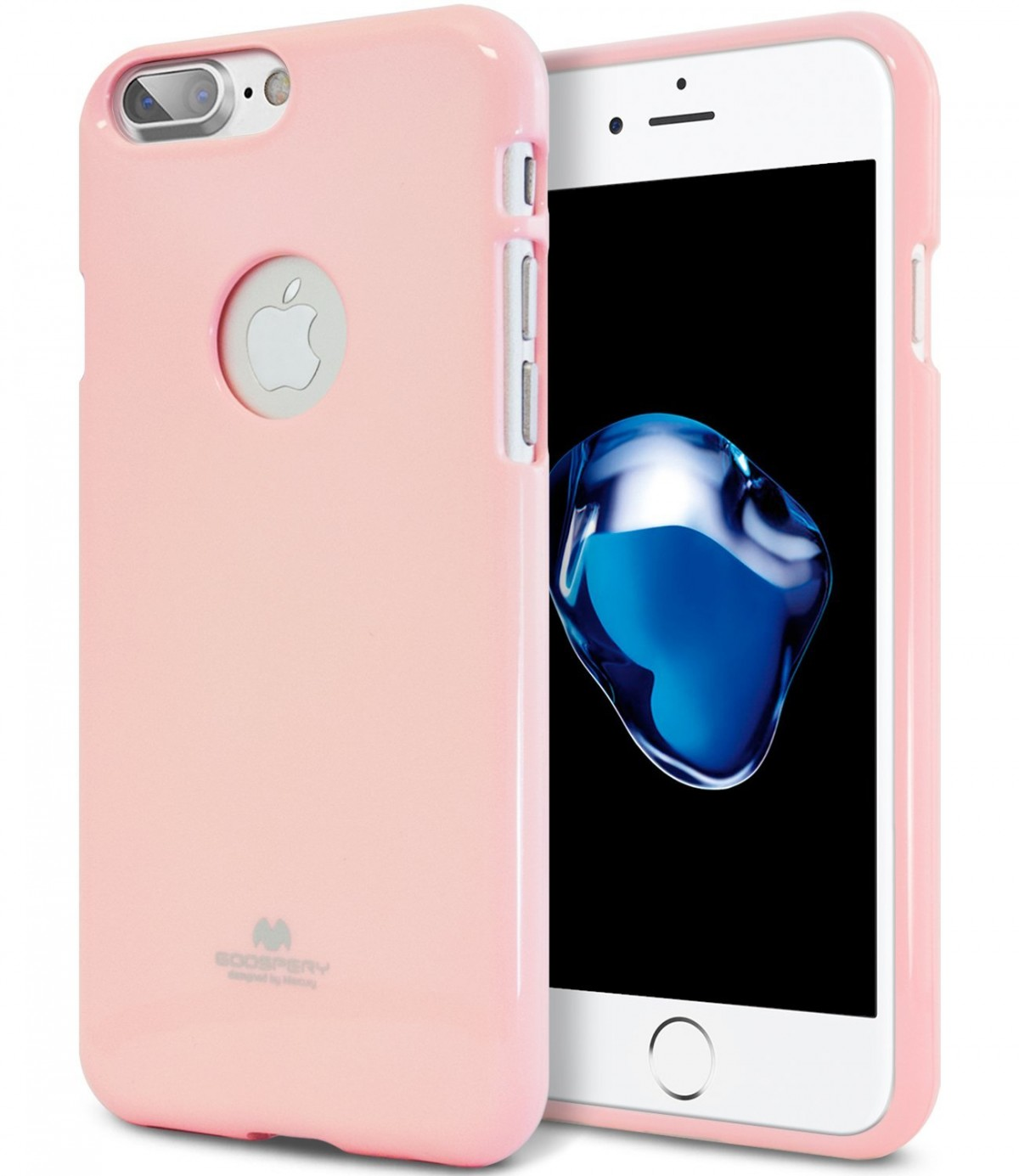 Pouzdro Goospery Mercury Jelly Case Apple iPhone 8 Plus / 7 Plus - Baby růžové
