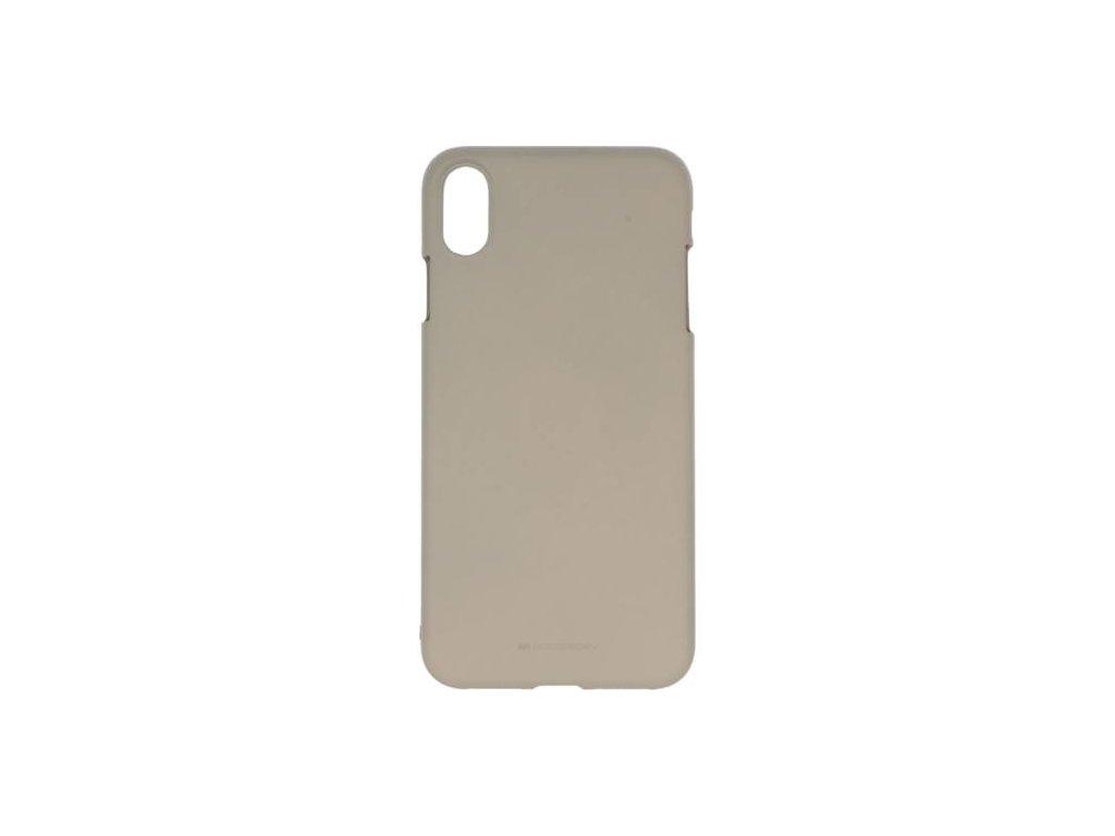 Pouzdro Mercury Soft Feeling iPhone XS MAX - Šedý