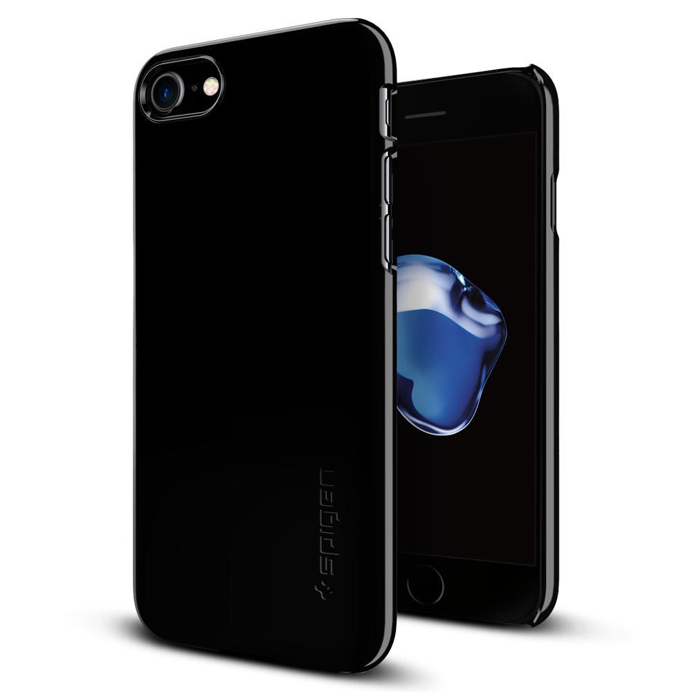 Ochranný kryt SPIGEN Thin Fit pro Apple iPhone 8 / iPhone 7 - Jet Black
