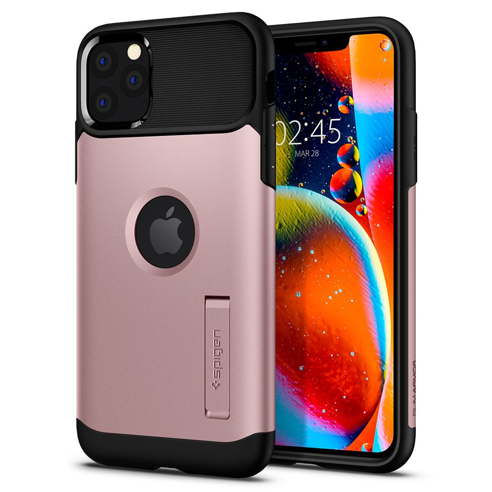 Pouzdro Spigen Slim Armor Apple iPhone 11 Pro Max - Rose Gold