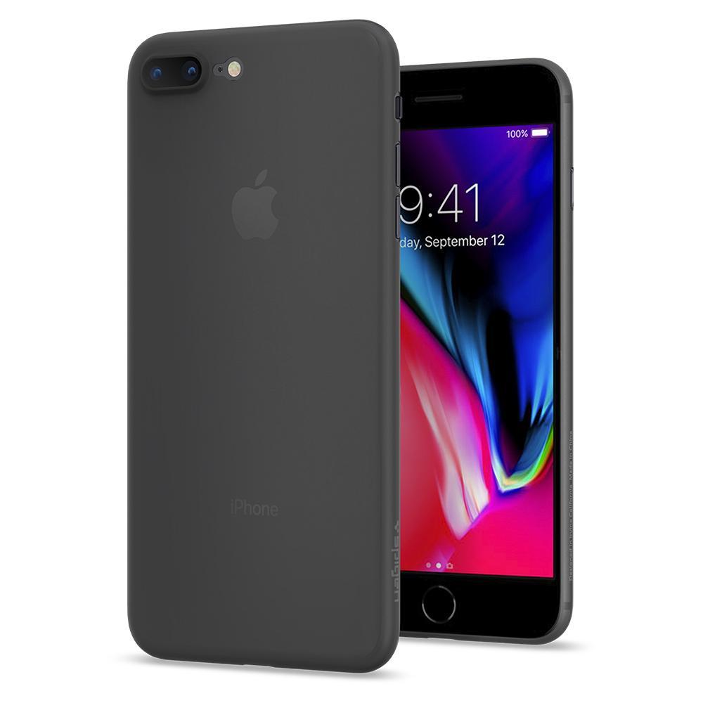 Ochranný obal SPIGEN Air Skin pro Apple iPhone 8 Plus / 7 Plus - Black
