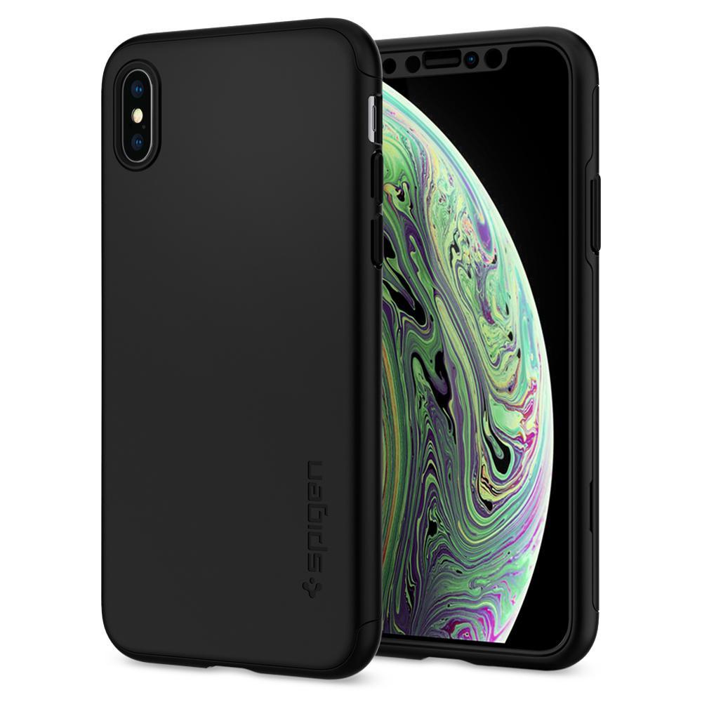 Pouzdro Spigen Thin Fit 360 iPhone XS/X - Černé