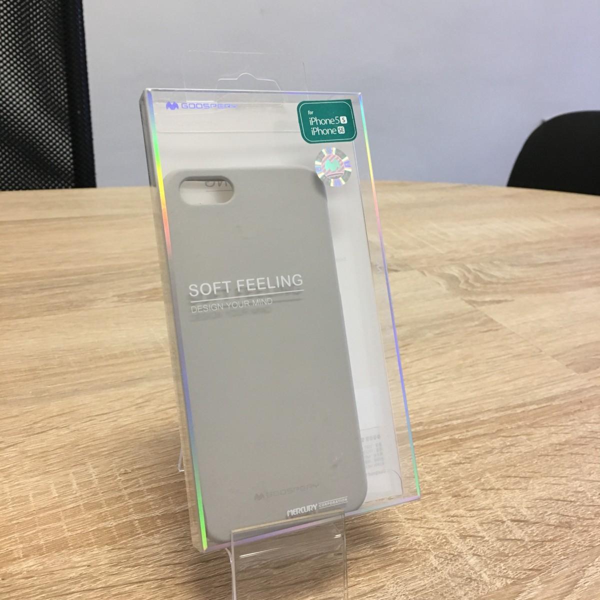 Obal / kryt Mercury Soft Feeling pro Apple iPhone SE/5s/5 - Kamenně šedý