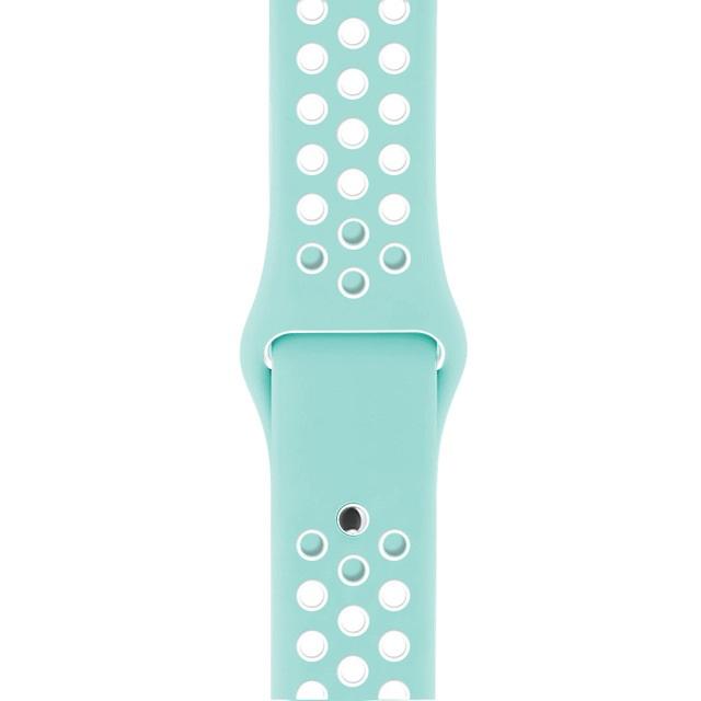 Řemínek SPORT pro Apple Watch Series 3/2/1 38mm - Mintový/Bílý