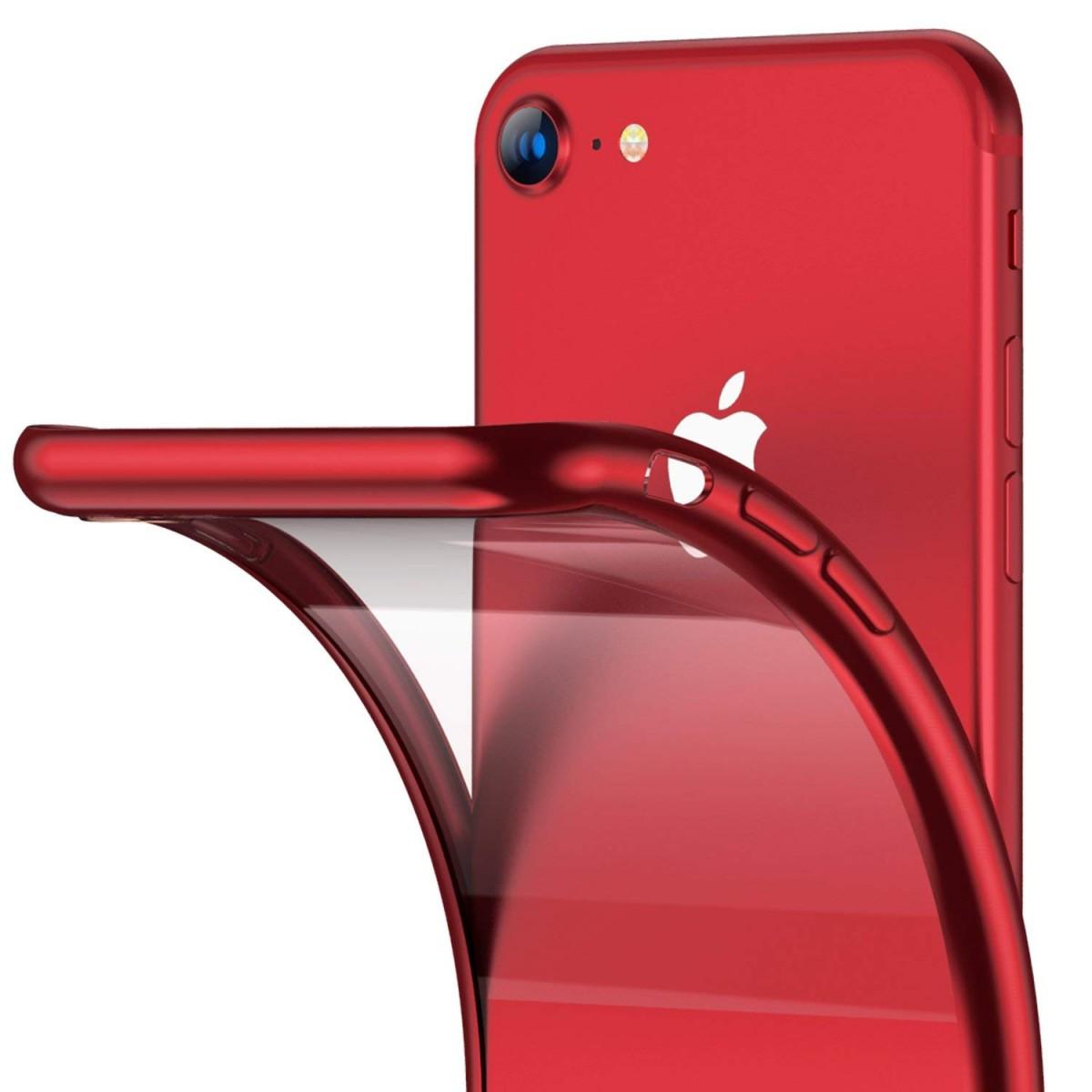 Elegantní obal / kryt RING pro Apple iPhone 8 a iPhone 7 - Červený / Red
