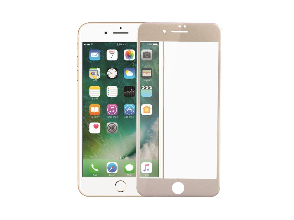 3D Tvrzené sklo MagicGLASS na iPhone 6s Plus / 6 Plus - Zlaté (gold)