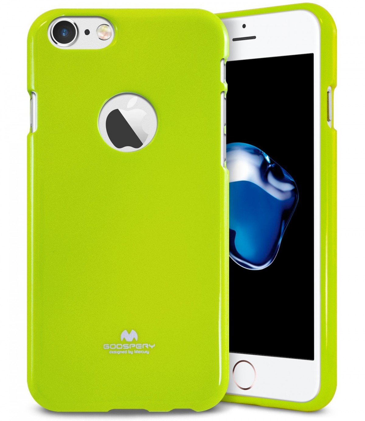 Pouzdro Goospery Mercury Jelly Case Apple iPhone 8/7 - Limetkové / Lime