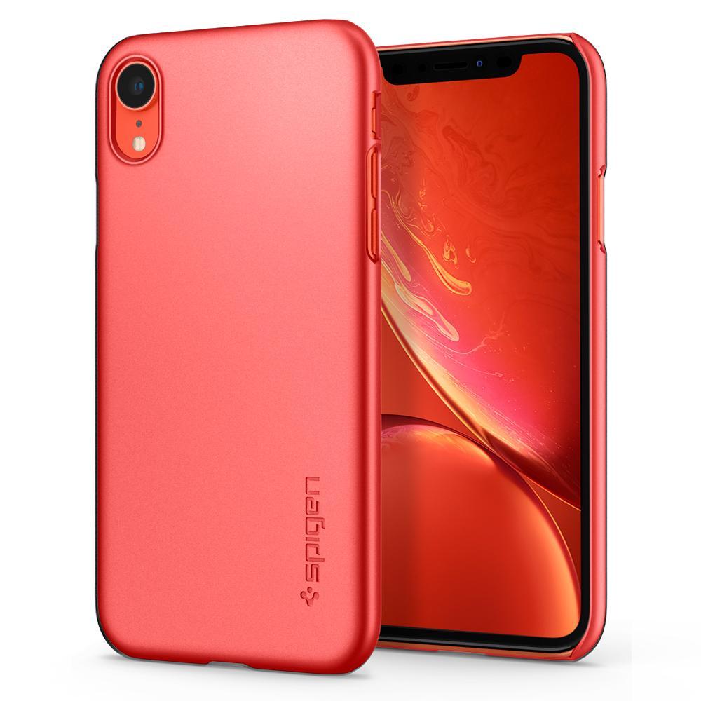 Pouzdro Spigen Thin Fit iPhone XR - Korálový