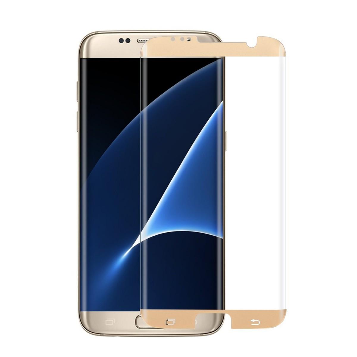 Qoltec tvrzené ochranné sklo premium pro smartphony Sam.S7 edge |full cover|gold 51334