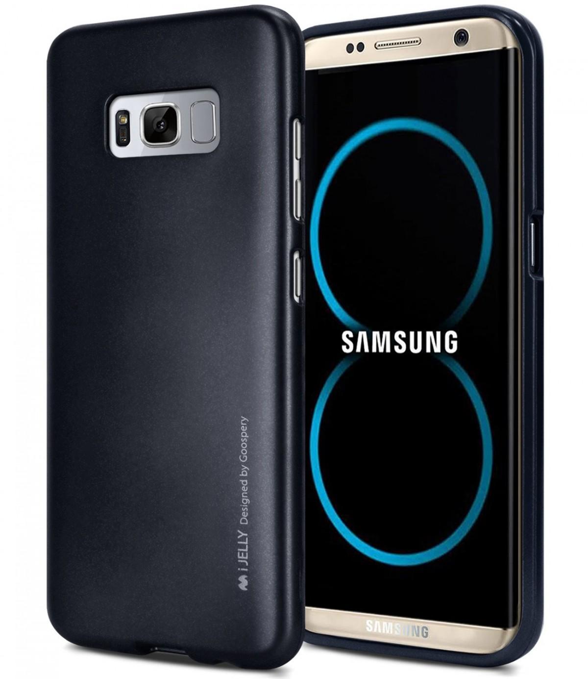Silikonové barevné kryty Goospery Mercury pro Samsung Galaxy S8+ - iJelly Metal - Černý