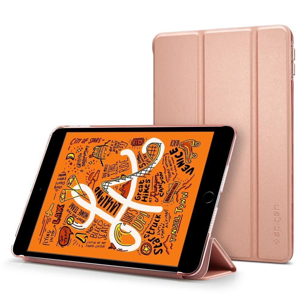 Spigen Smart Fold Case na Apple iPad mini (2019) - Růžově zlaté