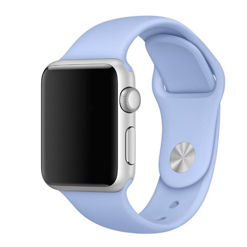 Řemínek SmoothBand pro Apple Watch Series 3/2/1 42mm - Šeříkově modrý