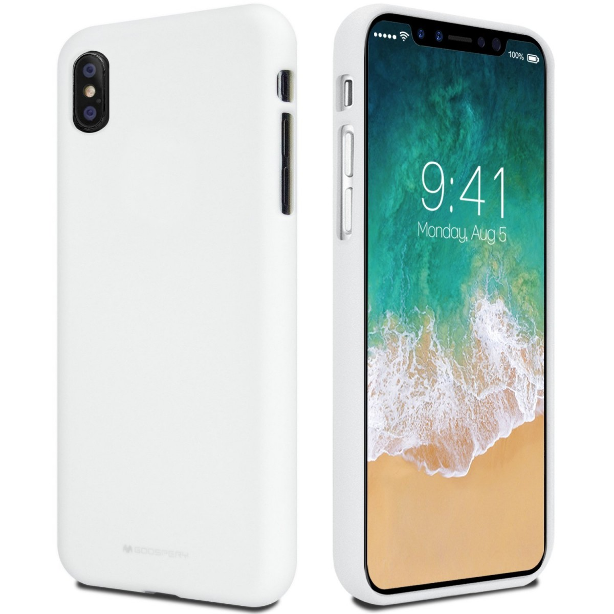 Pouzdro Mercury Soft feeling Apple iPhone X bílé
