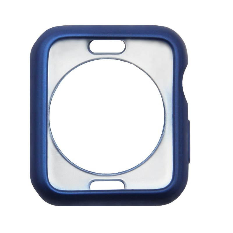 Silikonový obal Jelly Metal na Apple Watch 38mm Series 1, 2, 3 - Modrý
