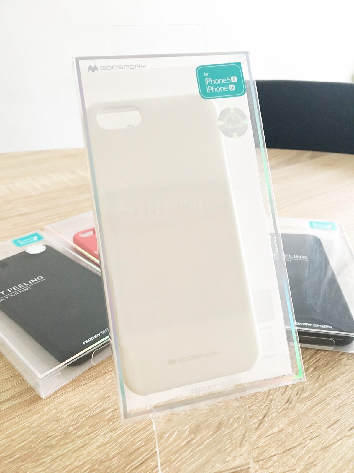 Obal / kryt Mercury Soft Feeling pro Apple iPhone SE/5s/5 - Bílý