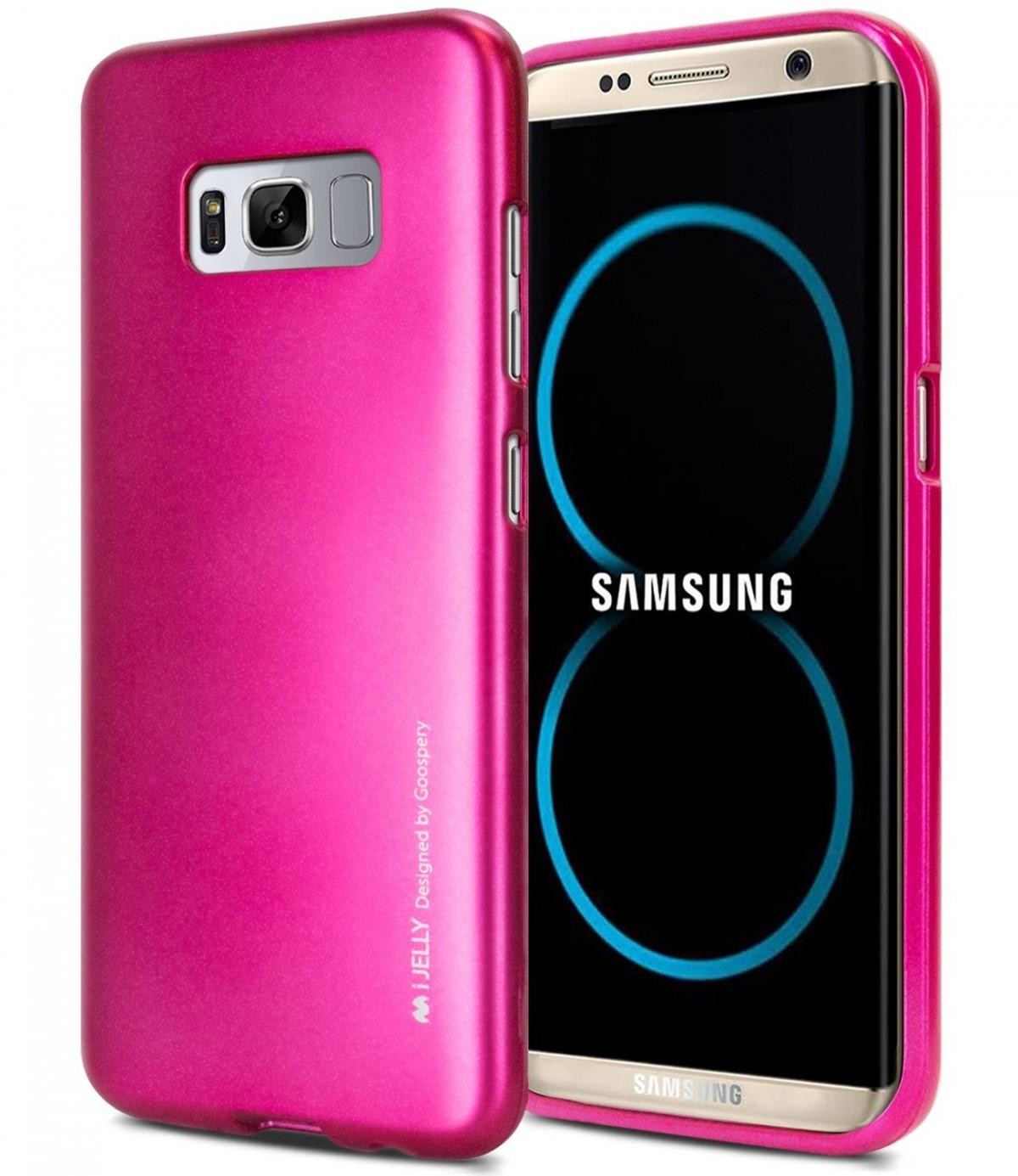 Silikonový obal / kryt / pouzdro Goospery Mercury pro Samsung Galaxy S8 - iJelly Metal - Tmavě růžový