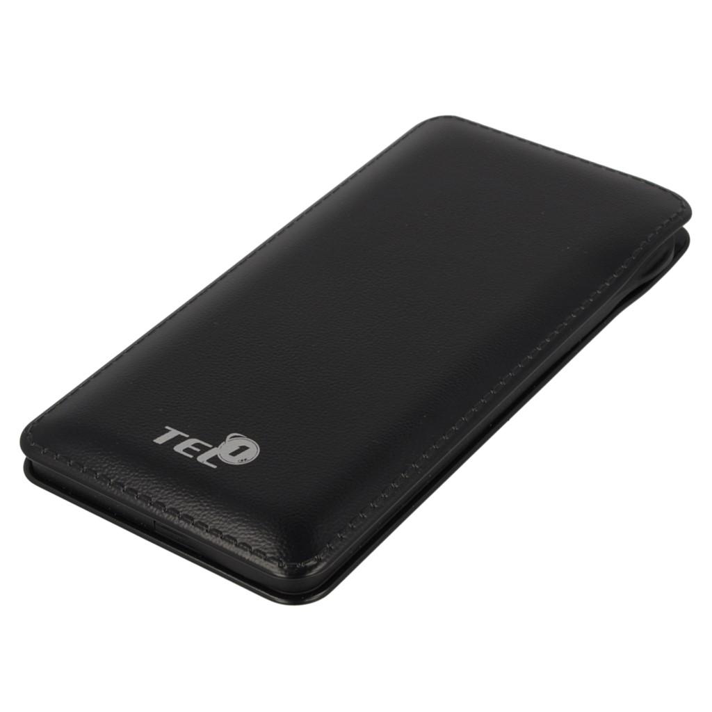 Externí baterie / Power Banka TEL1 Slim 12 000mAh, 2x USB, LED - Černá