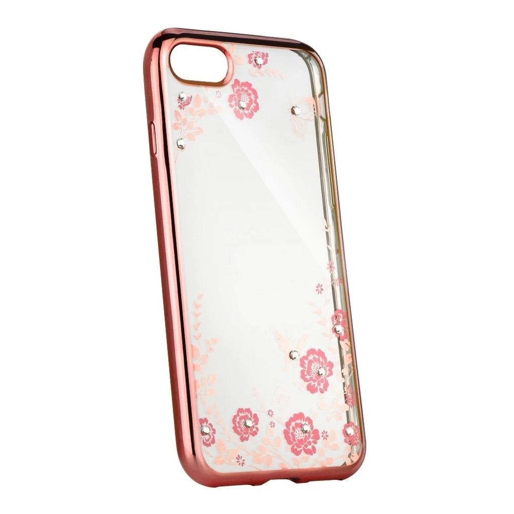 Pouzdro Forcell Diamond Case iPhone 8/7/SE (2020) - Růžově zlatá