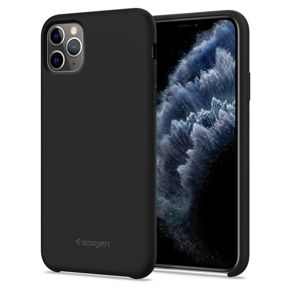 Pouzdro Spigen Silicone Fit iPhone 11 Pro černé