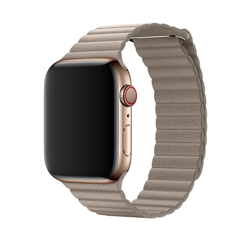 Řemínek Leather Loop na Apple Watch Series 3/2/1 (42mm) - Béžový